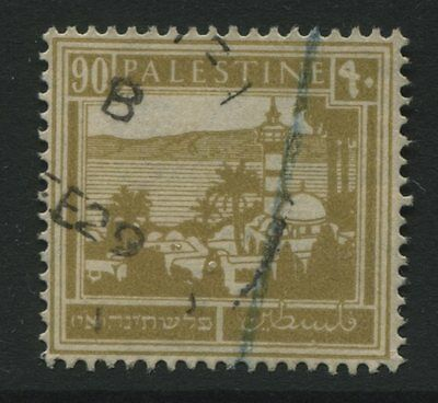 Palestine: 1927 90m. Sea of Galilee stamp - bistre SG101 Used XX346