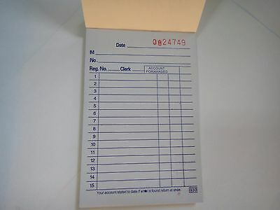 "New Sales Book Order Receipt Invoice Carbon less 50 sets 3.5""x5.5"" US Seller"