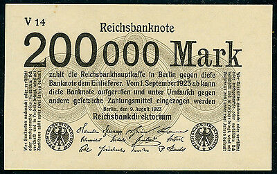 Germany 200,000 mark 1923, P-100, UNC