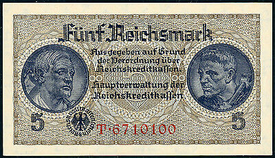 Germany – German Occupied Territories WWII 5 reichsmark ND, P-R138b, UNC