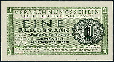 Germany – WWII military payment certificate 1 reichsmark 1944, P-M38, UNC