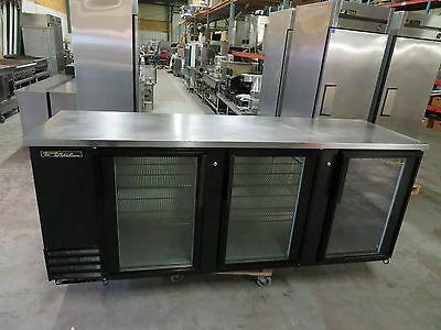 True TBB-4G Glass Door Commercial Back Bar Beer Cooler - 2 Available - NICE