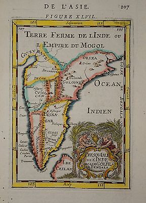 India.presqu-Isle De L'inde By Mallet 1683.