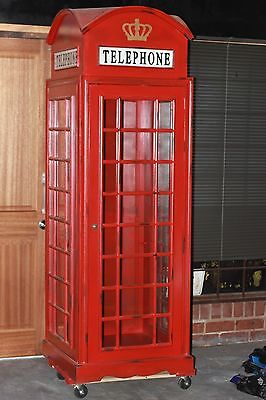 Phone Booth Armoire (British Vintage)