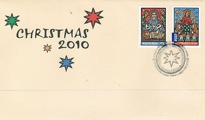 2010 Christmas 2 Stamps First Day Cover