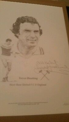 Sir Trevor Brooking West Ham Signed Picture FREE POSTAGE