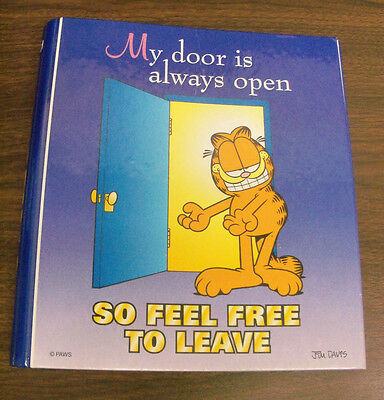 Vintage Garfield Paws Mead Organizer Hardcover 3 Ring Binder