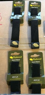 4 NEW 4 X Wychwood Spool Bands Fly Fishing Reel LA 9/10 + 3/4 Large Small