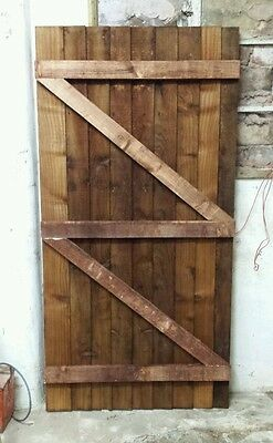 Wooden gate featheredge pressure  treated 3ft x6ft