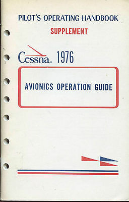 Cessna-Pilots Operating Handbook Supplement - Avionics Operation Guide - 1976