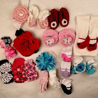 Baby Girls 0-3 Months Socks Disney Hairpieces Slippers Gymboree Tights