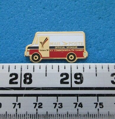 Victoria '94 Commonwealth Games Postes Canada Post Mail Truck Van Car Pin # 1855