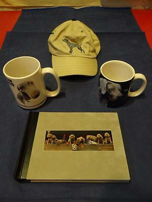 Weimaraner Dog Collectibles With 2 Mugs + Hat + Photo Album 4 Pieces SA2307