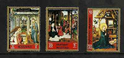 Manama Postage Used Condition Stamp - 3 Paintings From Pinakothek, Munich 1972