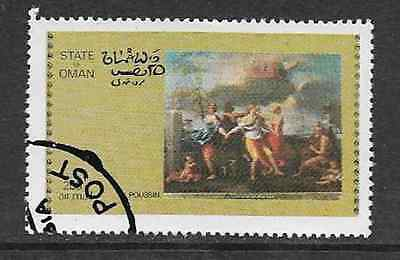 State Of Oman Postal Issue - Used Air Mail Stamp - 1972 - Art Painting Poussin