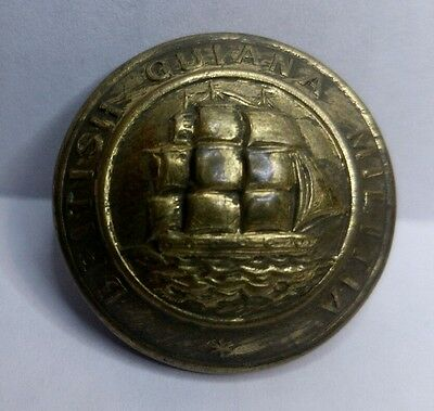 British Colonial Early British Guiana Militia 26mm Tunic Button by V R Blakemore