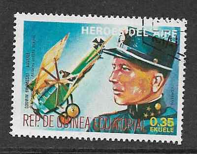 Equatorial Guinea - Used Stamp - 1977 Heroes Of The Air - Godwin Brumoski