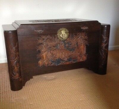 Oriental Camphor Wood Storage Chest Toy box Coffee Table