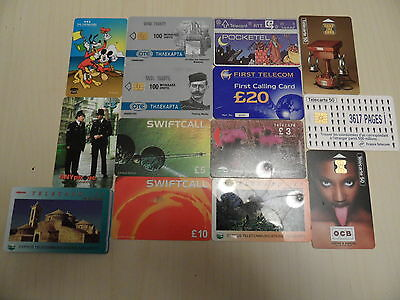 Phonecards & Calling Cards from various places inc a Disney card