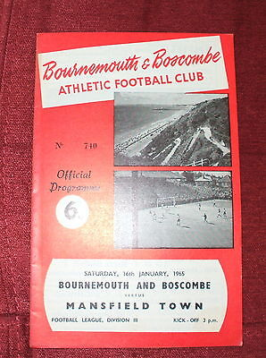 Bournemouth V Mansfield Town 16-1-65