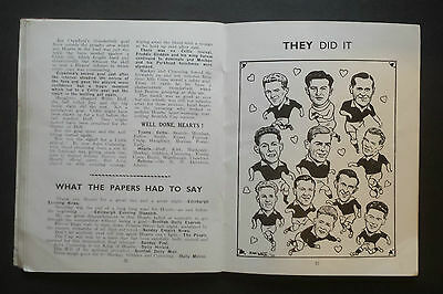 Hearts Official Handbook 1956 – 57 Scottish Cup Winners Victory Special