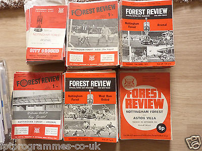 /Nottm Forest  Home Programmes 1967/68 to 1972/73 .  Select from list