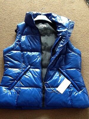 Souluxe Royal Blue Padded Gilet Zipped Pockets BNWT Size Small