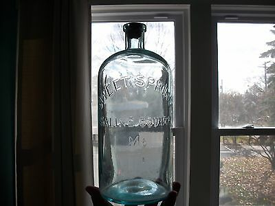 Rare Gallon 1870S Sweet Springs Saline County Missouri Mineral Water Applied Top