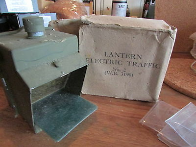 WW2 Blackout Electric Traffic Lamp  Unused In Box
