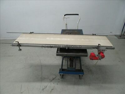 """Flat Belt Conveyor 15"""" X 66"""" With Motor 0.12Kw 180V ( Used and Tested )"""