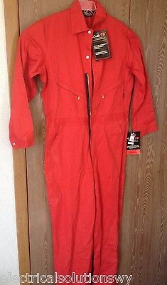"New wTag RED Walls FR Cotton-Nylon Overall Large TALL,Zippers,Pockets 31"" inseam"
