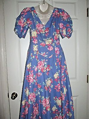 LAURA ASHLEY WEDDING GARDEN DRESS Size 10 Periwinkle Blue