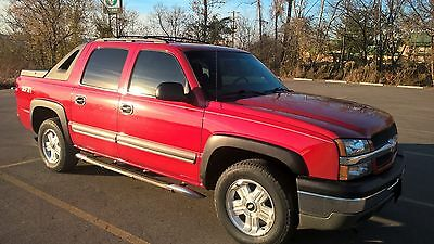 2003 Chevrolet Avalanche Z71 2003 Chevrolet Avalannche 4x4 Z71 Victory Red Clean