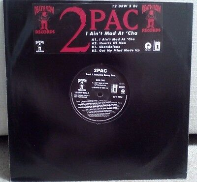 """2Pac - I Ain't Mad At Cha & 3 OTHER SONGS (Tupac) Original Death Row 12"""" Vinyl"""