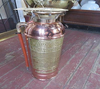 Fire extingusher Copper & Brass,Refurbished,Lacquered