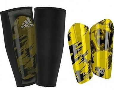 Adidas Berlin Ghost Graphic Adult  Shinguards Yellow-Pantone-Black AX9225