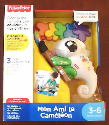 """Fisher Price Think & Learn Smart Scan Color Chameleon """"mon Ami"""" French Language!"""