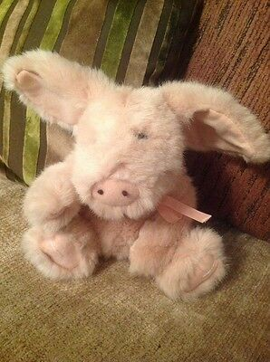 Boyds plush jointed pig