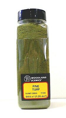 Woodland Scenics Ground Cover Foam Fine Turf Burnt Grass Model Railroad 1344