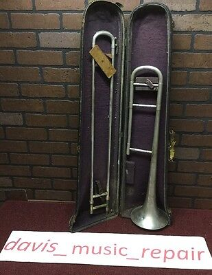 Vintage American Trombone - Elkhart IND. U.S.A. - With old Case (stock #607)