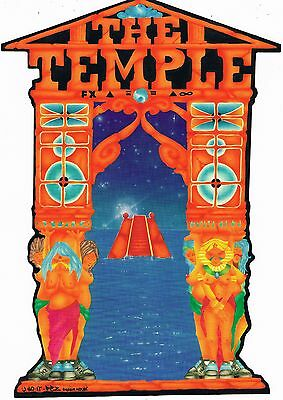 F/X THE TEMPLE Rave Flyer Flyers 1991 A4 Linford Film Studios London SW8