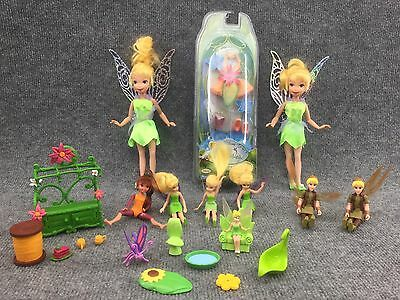 Lot Of Tinker bell, Dolls, Furniture And Accessories! 22 pieces