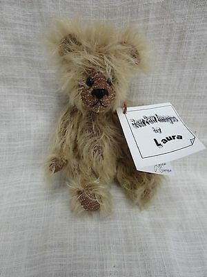 "6"" Articulated Mohair Artist Bear ""Lil Bud"" Bear Paw Images  2000 With tags"