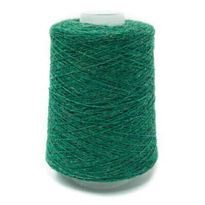 200G Green Mixture 2/11Nm Lambswool Yarn Clover Leaf