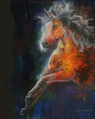 WILDFIRE  8x10  FIRE HORSE Print from Artist Sherry Shipley