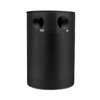 Mishimoto Performance 2-Port Compact Baffled Oil Catch Can - MMBCC-MSTWO-BK