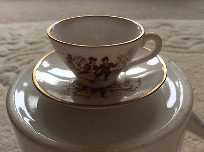 Caverswall Christmas 1978 china miniature cup + saucer accessory for bisque doll
