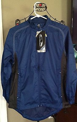 Sun Mountain Ladies Provisional Wind Jacket Nwt Sz Small Navy Msrp $64.95