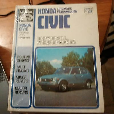 Honda Civic Scientific Publications Workshop Manual 12Oo From 1973 Automatic