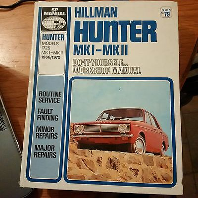 HILLMAN HUNTER  1966 - 1970 SCIENTIFIC PUBLICATIONS WORKSHOP MANUAL 1725cc